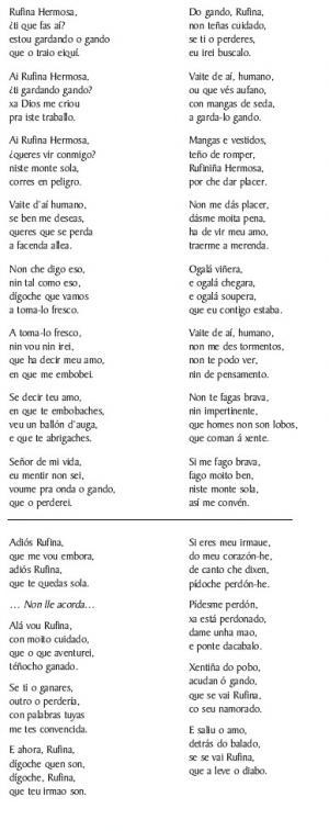 Romance de Rufina (A Madalena, Soutelo de Montes)