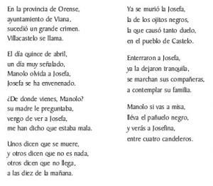 Cantar de Villacastelo (, Soldón (A Seara))