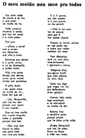 O meu muiño non moe pra todos (Carmen L. Núñez, O Carballal)