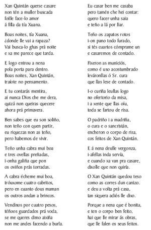 Romance de Xan Guindán (Xosé Mosqueira, Xanceda)