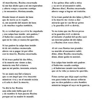 Cantar de Rosina (, Lúa)