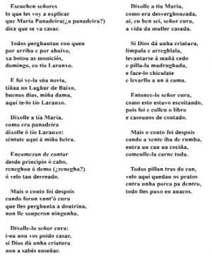 O casamento do Tío Laranxo (Sra. Josefa Sánchez Quindimil, Mesía)