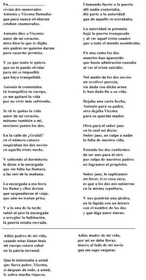 Cantar de de Cego de Antonio e Vicenta (Concepción Soto C., Forcarei)