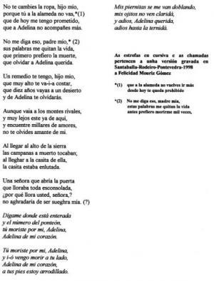 Cantar de Adelina (Sr. José, Berrozo)