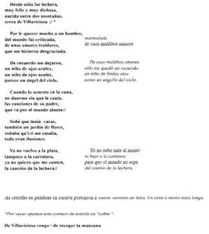 Copla de la lechera (María Blanco Cardelle, Lanzá)