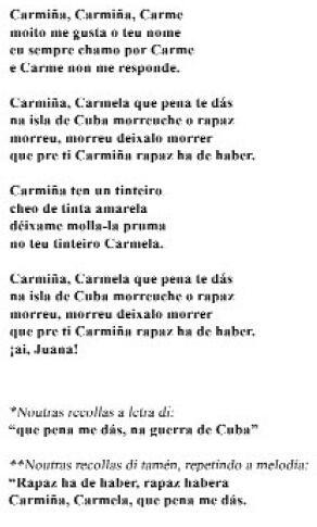 Carmiña Carmela (Sr. Florencio, Os Vilares)
