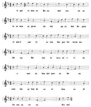 Cantar da comparsa dos Rexumeiros (Lola e Carmen Lage, Anxeriz)